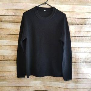 Lululemon Sweater Days Crewneck Black Sz Large EUC